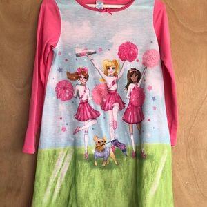 Children's place Barbie chearleader nightgown